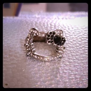 Sanrio Hello Kitty rhinestone face ring.